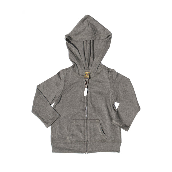 Basic Babe Contrast Hoodie -  Gray