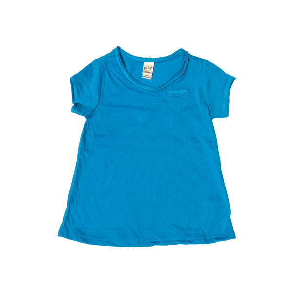 Basic Babe Short Sleeve Pocket Tee - Blue
