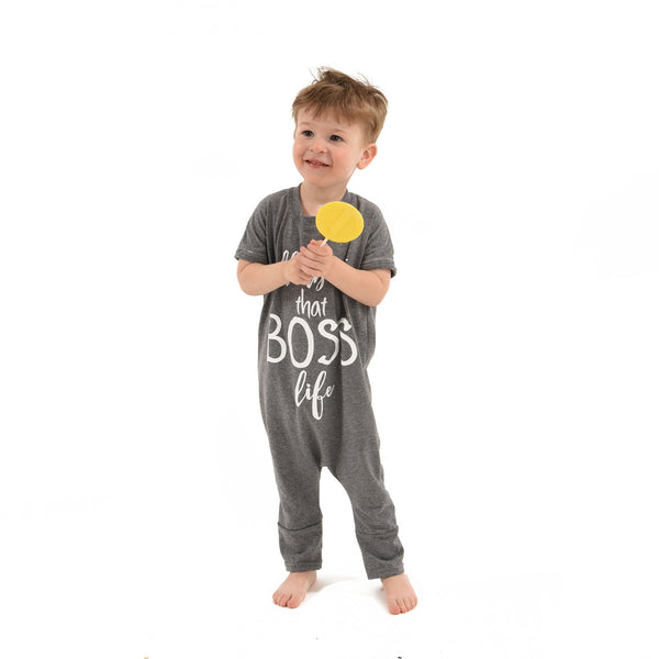 Boss Life Romper - Grey