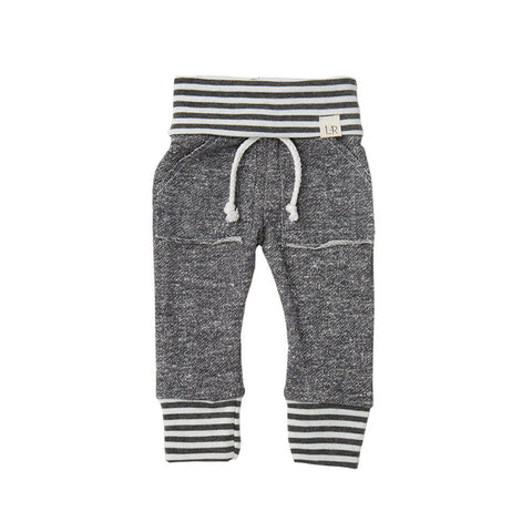 Dark Grey Stripe Sweatpants