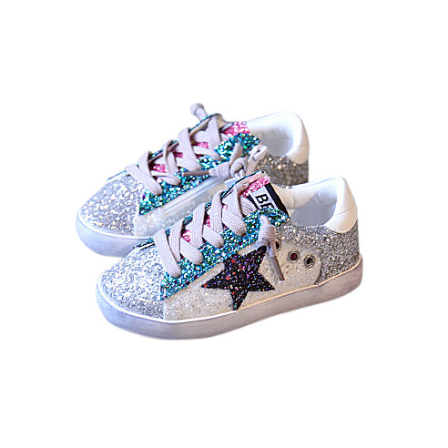 Sparkling Stars Sneakers - White