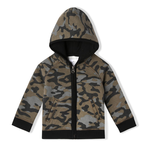 Army Camo Zip Up Hoodie