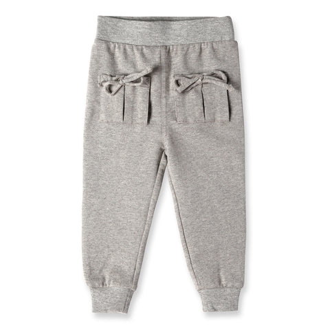 Aubrey Tie Pocket Sweatpant - Grey