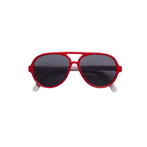 Jett Aviator Sunglasses - Red