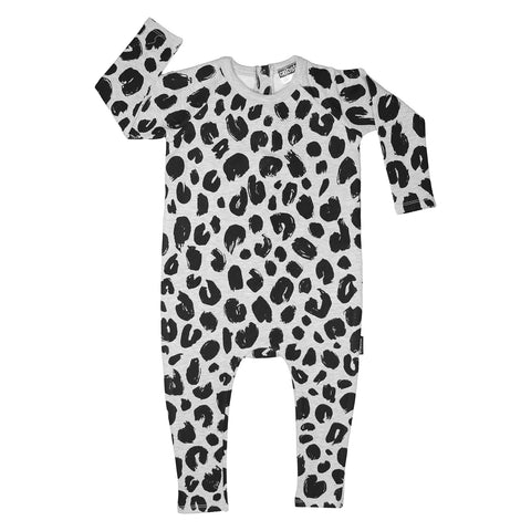 Fierce White Leopard Romper