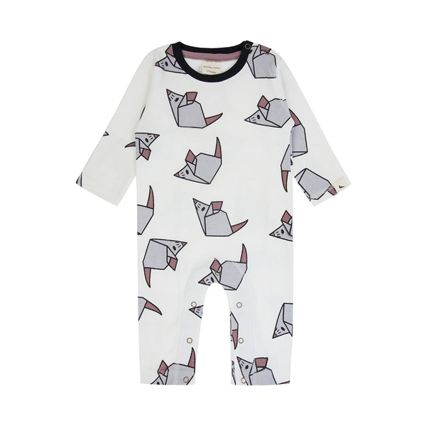 Origami Mouse Long Sleeve Playsuit