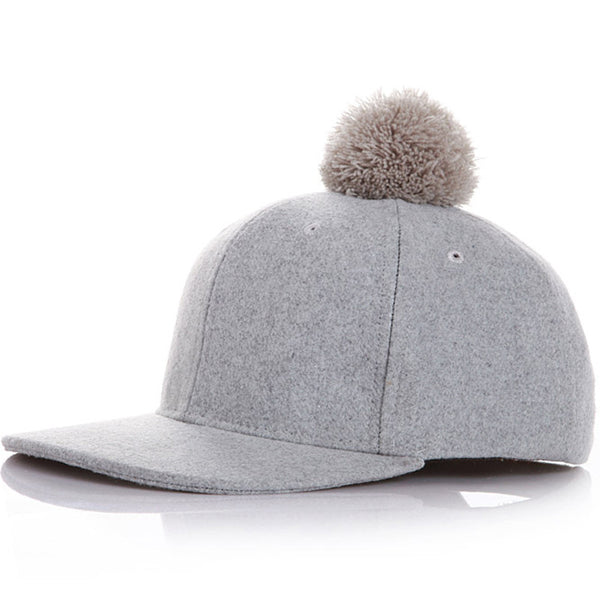 Put a Pom on it Hat - Grey