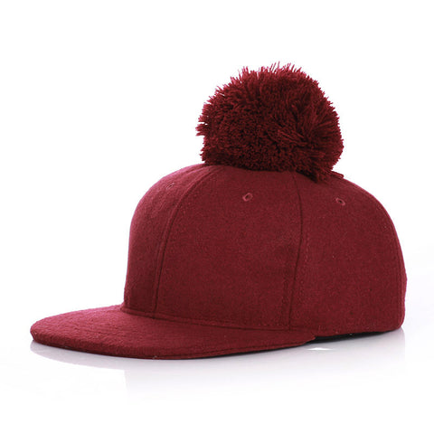 Put a Pom on it Hat - Burgundy