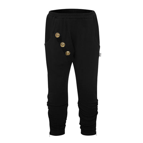Blaze Button Harem Pant - Black