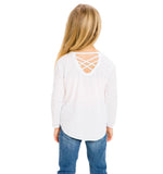 Chaser Kids Peek-a-boo Back Long Sleeve