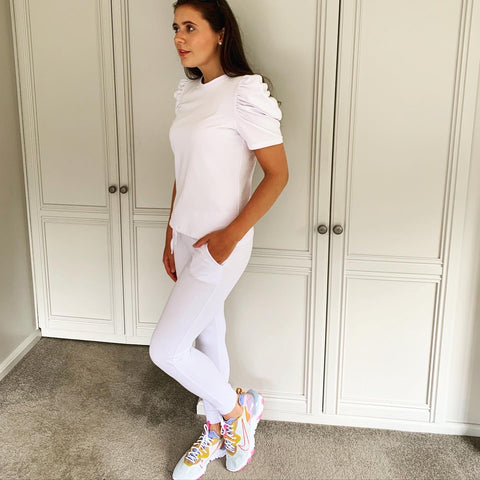 White Puff Sleeve Tracksuit