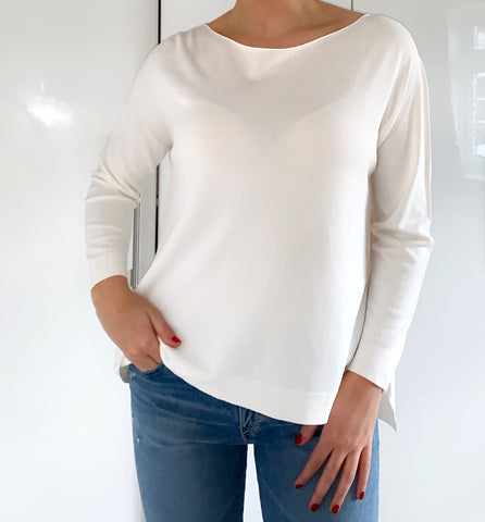 Fine Knit Jumper with Split Sides