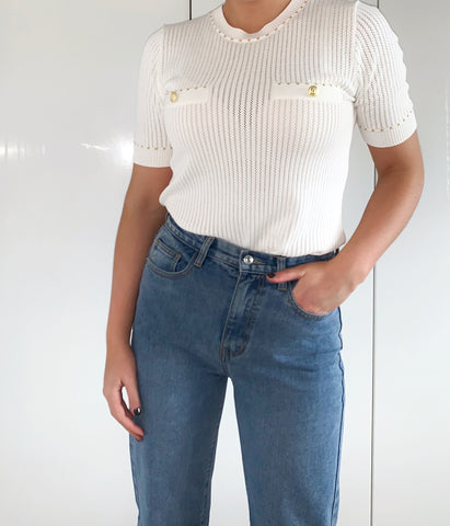 Knitted Top with Pocket Detail