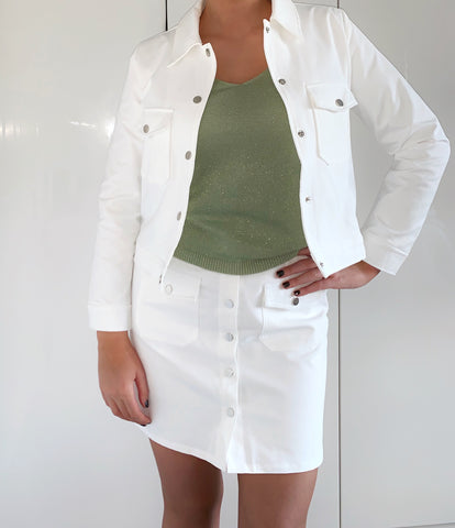White Button Jacket