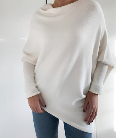 Cream Asymmetric Cape