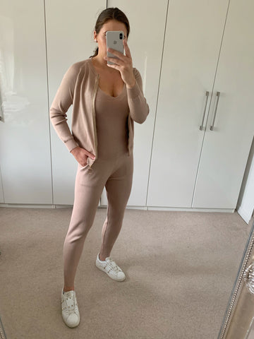 Light Camel Chain Strap 3 Piece Tracksuit