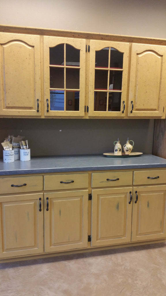 Hand Painted Refurbished Oak Cabinets Showroom Display - Artworks Northwest  - 1