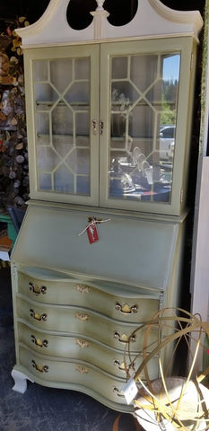 "SOLD!_""Chateau"" Hand Painted Secretary"