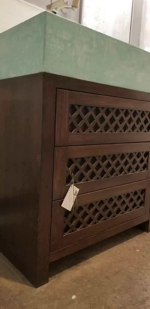 Custom Built Lattice Sink Base Cabinet