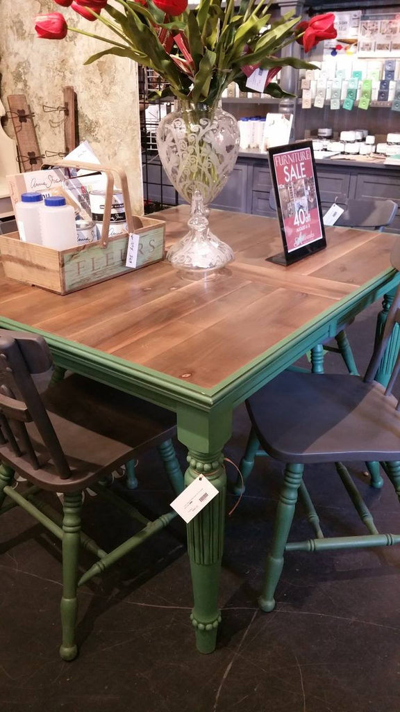 Hand Painted Weatherwood Farm Table - Artworks Northwest
