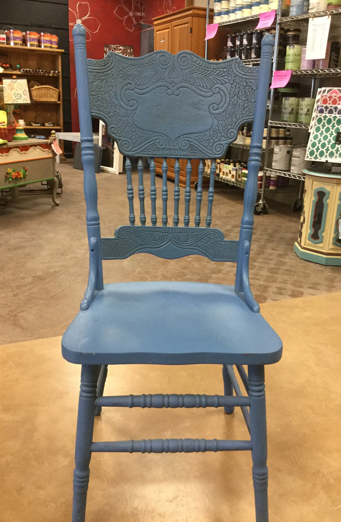 SOLD Hand Painted Oak Dining Chair - Artworks Northwest