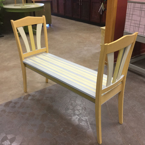 Hand Painted Chair Bench - Artworks Northwest