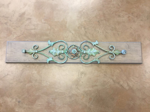 SOLD Hand Painted metal and wood display rack - Artworks Northwest