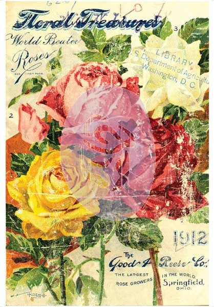"IOD ""Floral Treasures"" Decor Transfer"