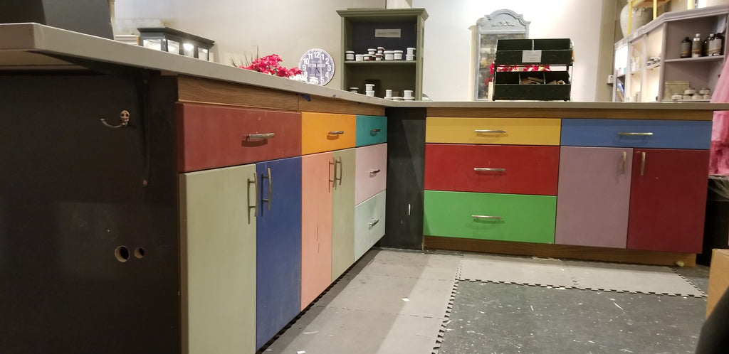 Hand Painted Teaching Table/Cabinetry