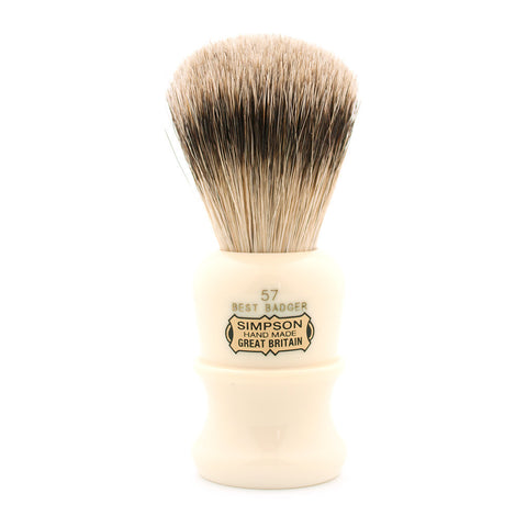 Simpson 57, Best Badger Shaving Brush - Alpha Yard  - 1