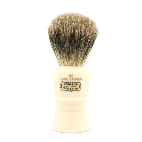 Simpson B6 Beaufort, Pure Badger Shaving Brush - Alpha Yard  - 1