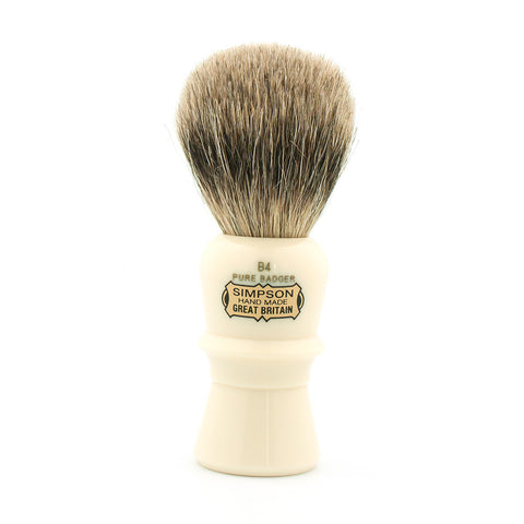 Simpson B4 Beaufort, Pure Badger Shaving Brush - Alpha Yard  - 1