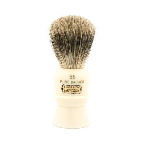 Simpson B5 Beaufort, Pure Badger Shaving Brush - Alpha Yard  - 1