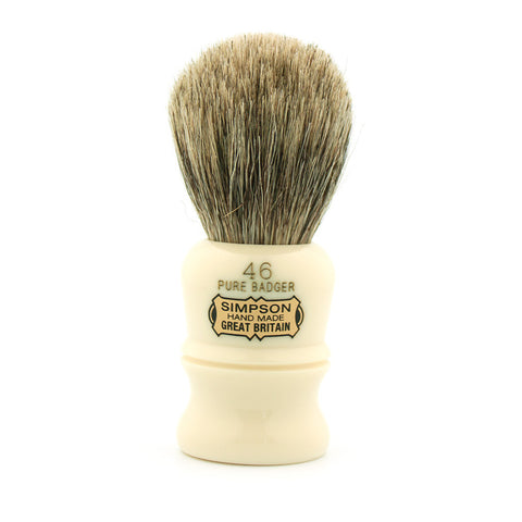 Simpson Berkeley 46, Pure Badger Shaving Brush - Alpha Yard  - 1