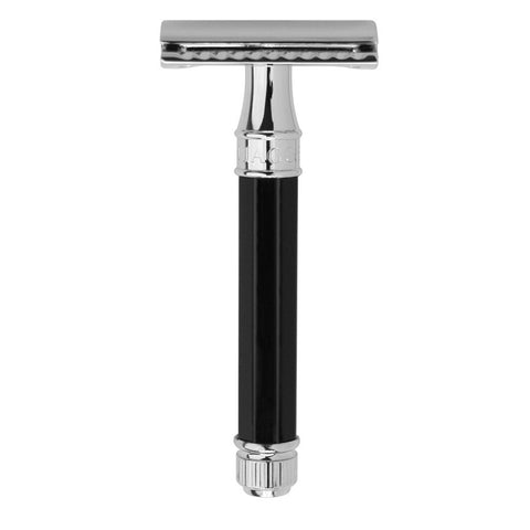 Edwin Jagger Ebony Octagonal Handle, Safety Razor - Alpha Yard