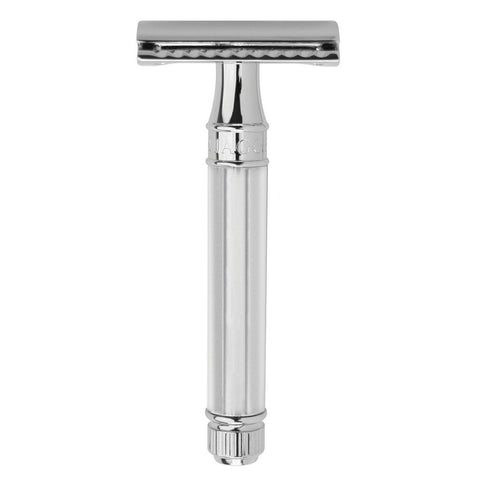 Edwin Jagger Chrome Octagonal Handle, Safety Razor - Alpha Yard
