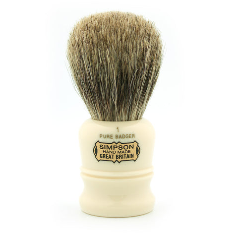 Simpson Duke D1, Pure Badger Shaving Brush - Alpha Yard  - 1