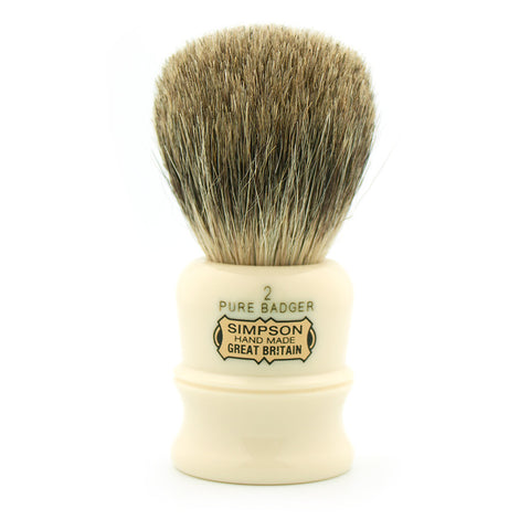 Simpson Duke D2, Pure Badger, Shaving Brush - Alpha Yard  - 1