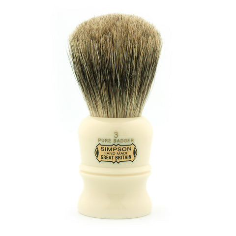 Simpson Duke D3, Pure Badger Shaving Brush - Alpha Yard  - 1