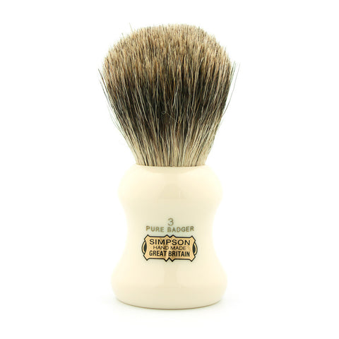 Simpson Eagle 3, Pure Badger Shaving Brush - Alpha Yard  - 1
