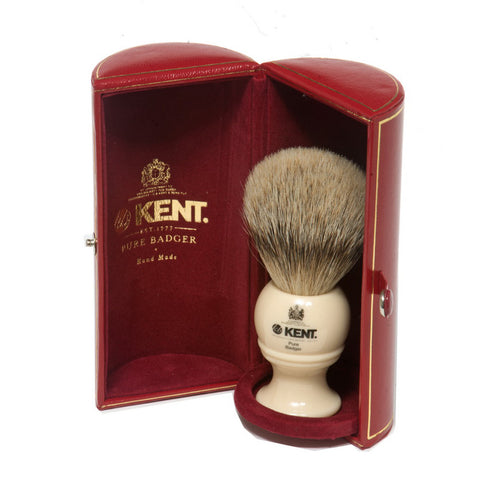 Kent BK8 Silvertip Badger Shaving Brush (Medium) - Alpha Yard