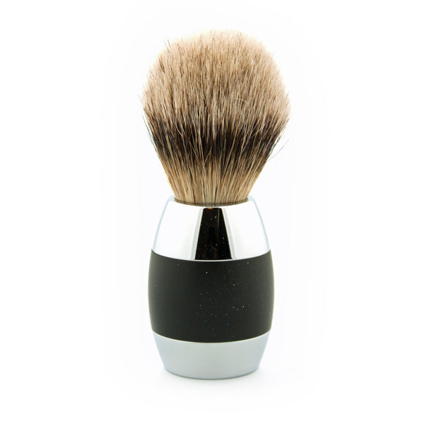 Merkur Super Badger Shaving Brush, Black/Silver - Alpha Yard  - 1