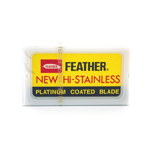 "Feather ""Yellow"" Hi-Stainless Blades - Alpha Yard"