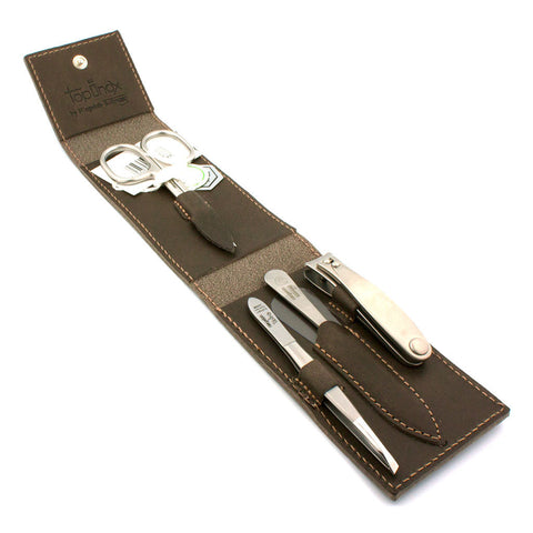 Niegeloh Havana 4pc, Leather Manicure Set - Alpha Yard  - 1