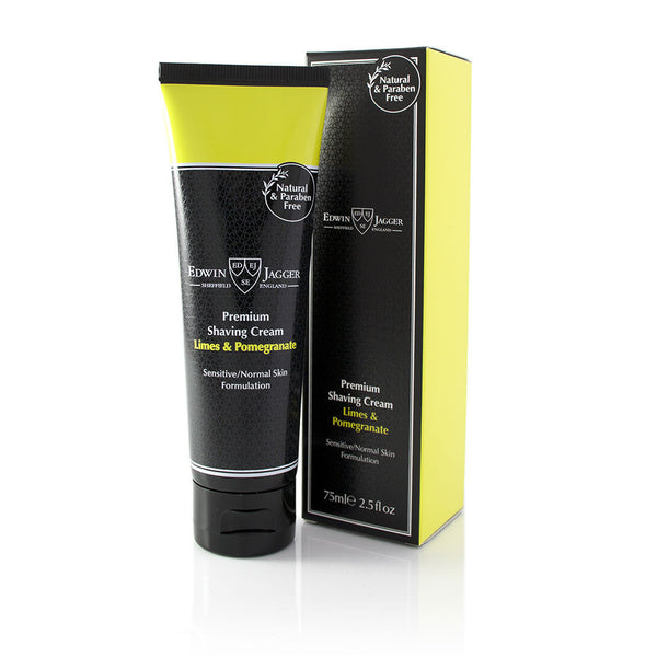 Edwin Jagger Lime & Pomegranate Shaving Cream, 75 ml - Alpha Yard
