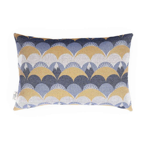 Housse de coussin Eternal sunset bleu en coton 40x60 cm-House of Rym-Le cochon truffier