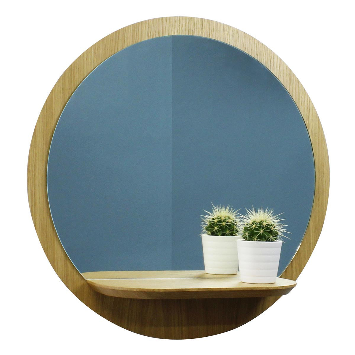 miroir mural rond en bois 30 cm avec tablette sunrise reine m re le cochon truffier. Black Bedroom Furniture Sets. Home Design Ideas