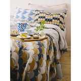 Plaid Eternal sunset bleu en coton 200x100 cm-House of Rym-Le cochon truffier