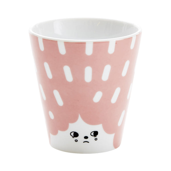 Tasse rose Countess Toadstool en porcelaine-House of Rym-Le cochon truffier