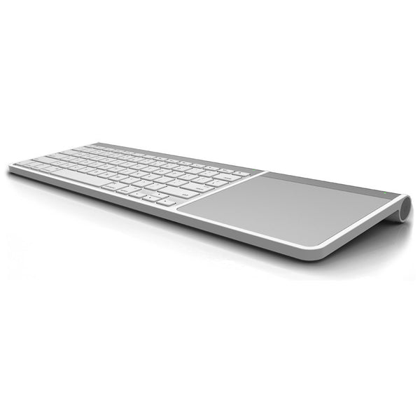 Clique Dock for Apple Wireless Keyboard and Magic Trackpad front 3-4 view